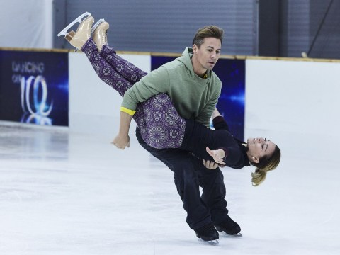 Dancing On Ice's Candice Brown and Matt Evers tackle challenging lifts in rehearsals after landing in skate off