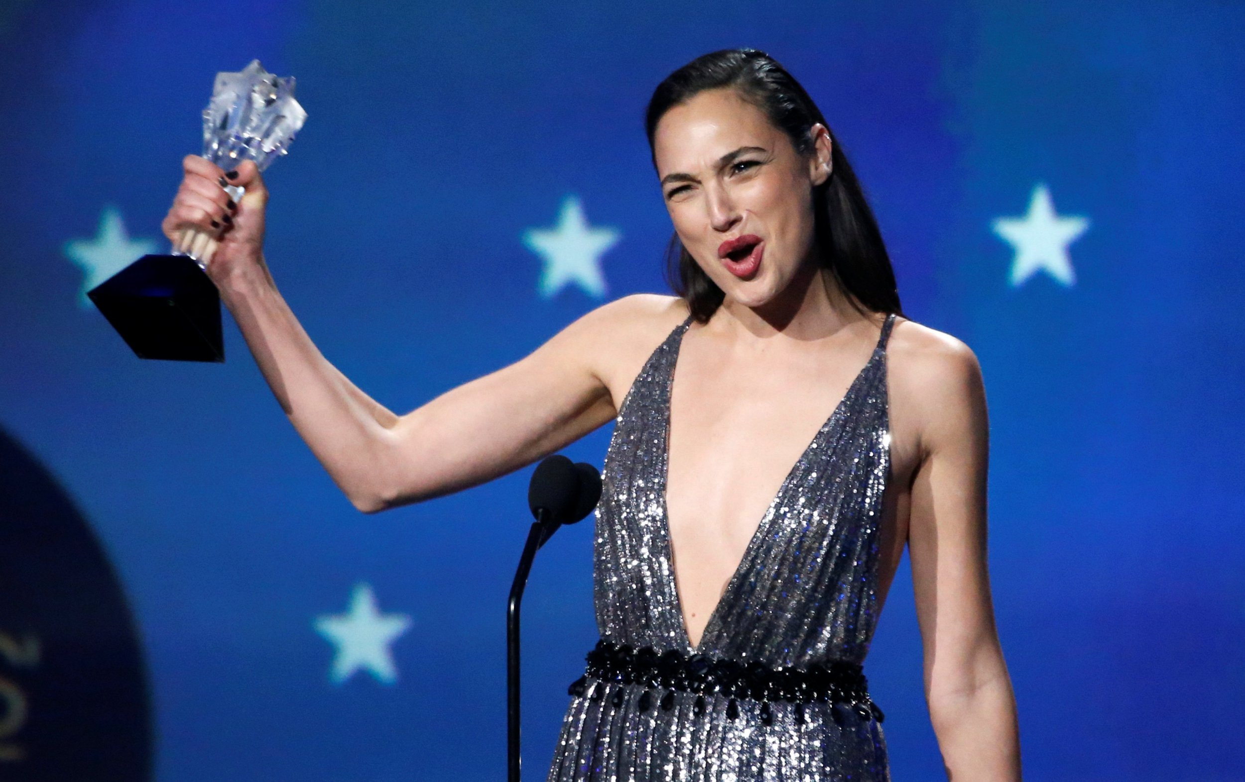 Gal Gadot is a real-life Wonder Woman as she champions women and #MeToo at Critics' Choice Awards