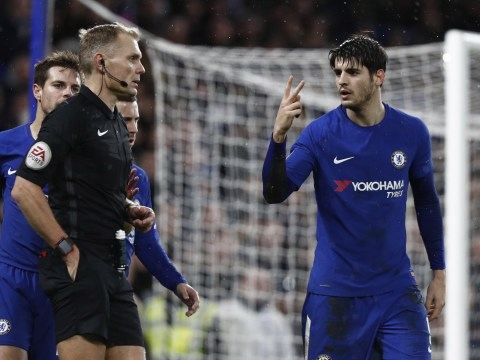 Antonio Conte admits he is 'not happy' with Alvaro Morata's reaction which led to FA Cup red card