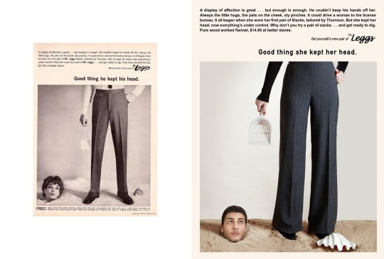 Photos show sexist ads from the 50s with the gender roles