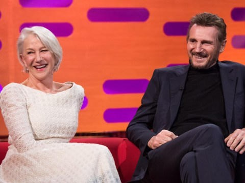 Liam Neeson reveals he was 'smitten' with Helen Mirren from moment they met as former couple reunite on Graham Norton Show
