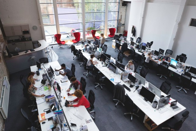 Open plan office can lead to a distracted and unproductive workforce (Picture: Getty)