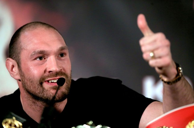 Tyson Fury gives the thumbs up