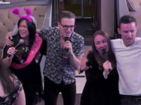 Harry Judd and Tom Fletcher give a Wedding Day Winners contestant a hen night to remember