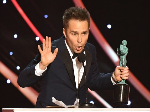 SAG Awards 2018 winner Sam Rockwell shows his support for 'women who are trying to make a difference'