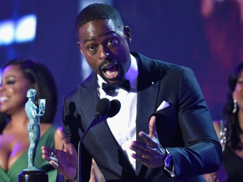 Sterling K Brown gets played off despite becoming first African American to win best actor in a drama series