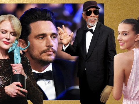 James Franco shows his face and Morgan Freeman wears one glove: Everything that happened at the SAG Awards