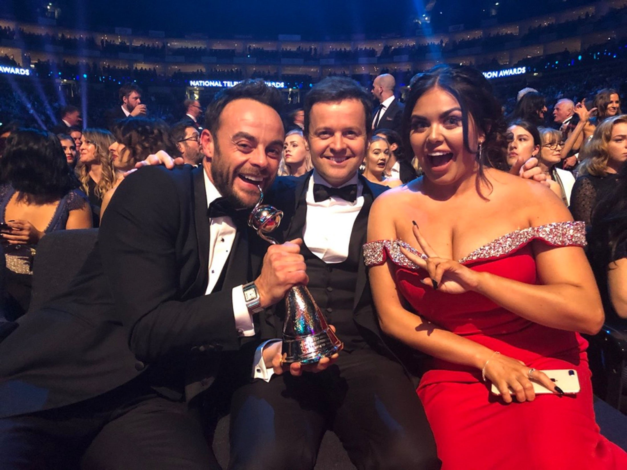 Ant and Dec and Scarlett Moffatt at NTAs