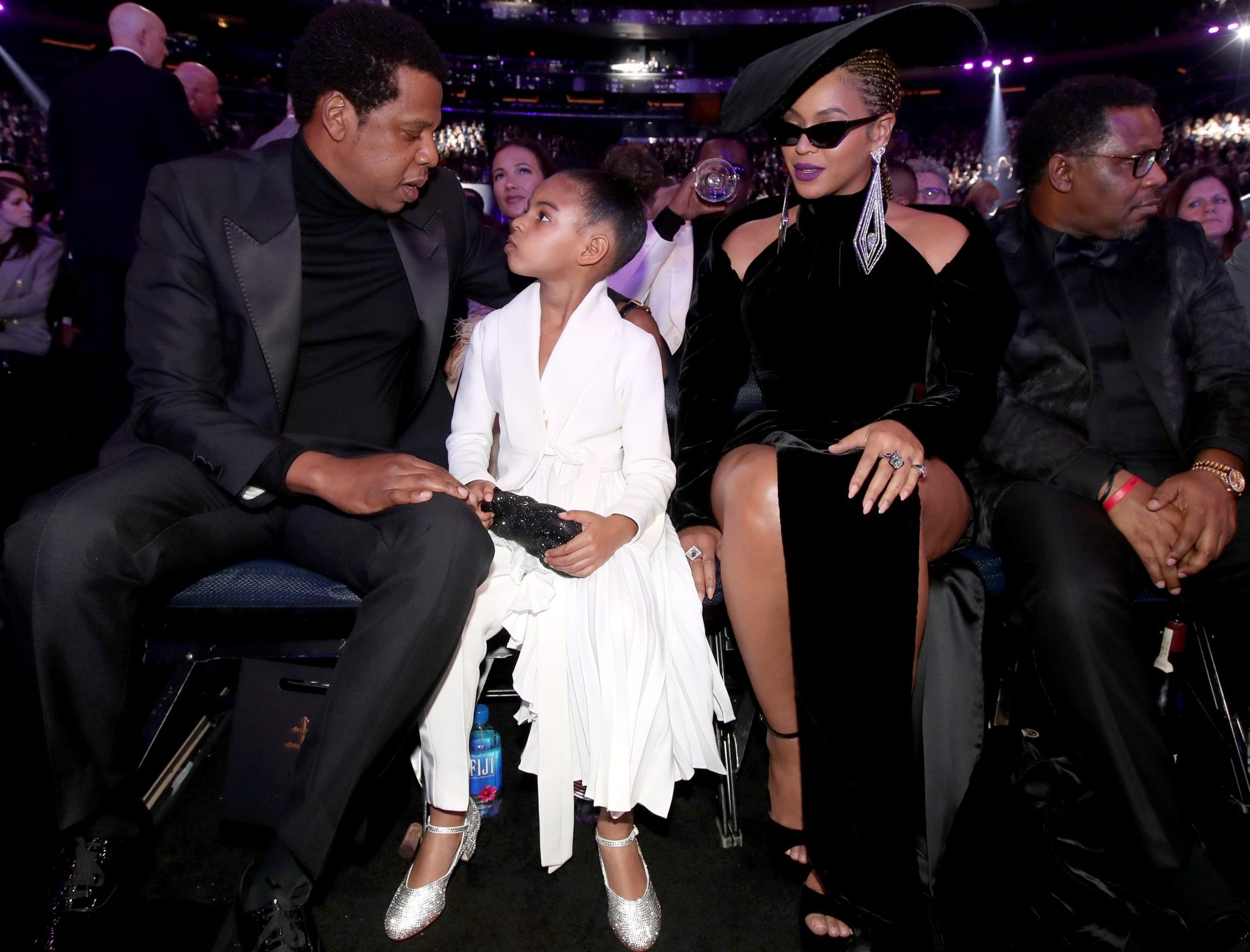 Beyonce, Jay Z and Blue at Grammys