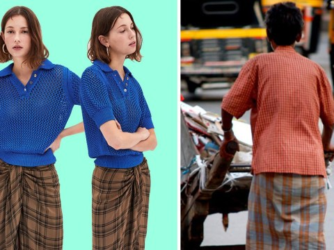 Zara is trying to sell your dad's £3 lungi (Asian male skirt) for £70