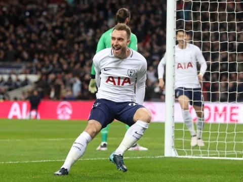 Tottenham v Manchester United clash witnesses Christian Eriksen goal just 10.48 seconds after kick-off