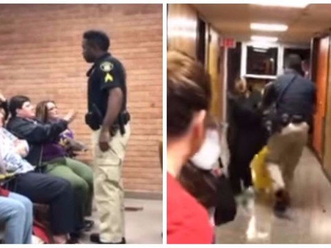 Police beg for end to hate mail over teacher arrest video