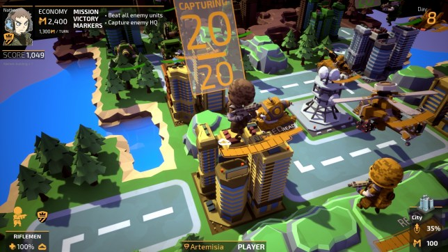 Tiny Metal (PS4) - it's more than a little like Advance Wars