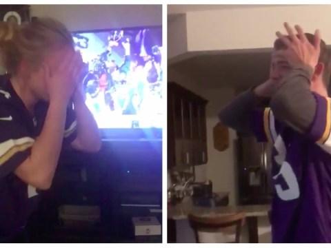 Entire family breaks down in tears after last-minute Vikings' touchdown