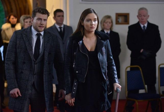 Lauren attends Abi's funeral in EastEnders