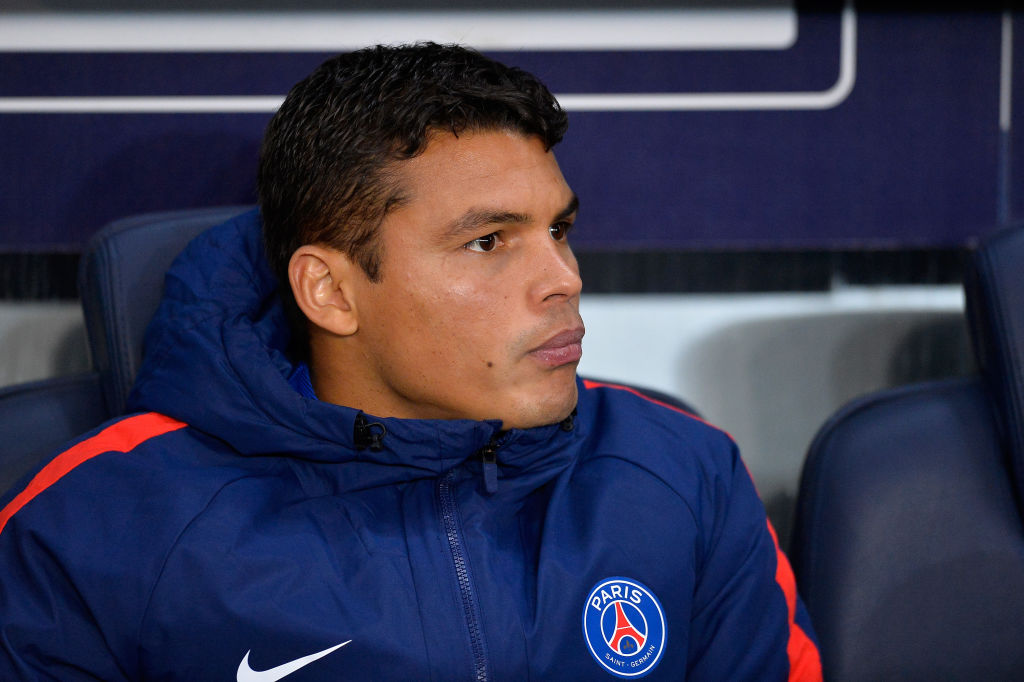 Thiago Silva posts despairing Instagram message as he's dropped for PSG's clash with Real Madrid