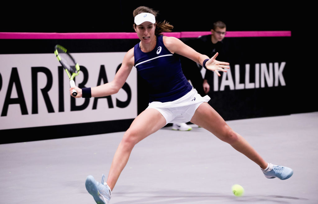 Johanna Konta and Heather Watson guide Great Britain to Fed Cup World Group II play-offs