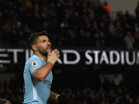 Sergio Aguero joins elite four-man club after stunning quadruple v Leicester