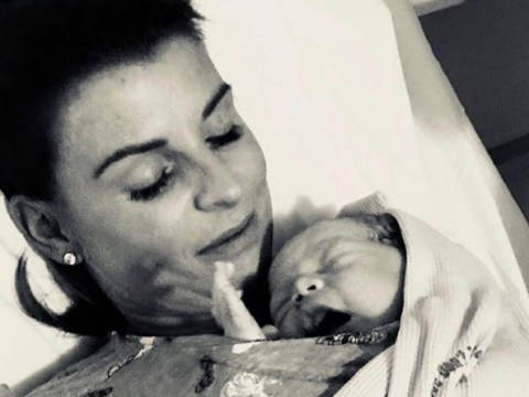 Coleen Rooney looks so in love as she shares first picture of new baby son Cass