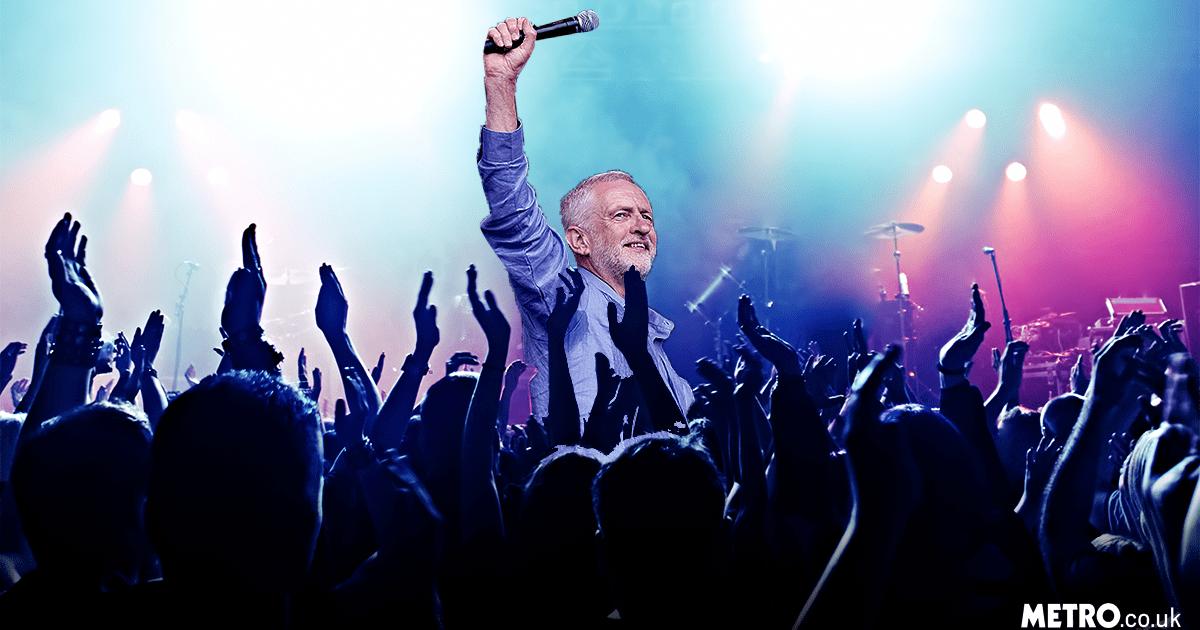 corbyn festival picture: Getty/REX/metro.co.uk