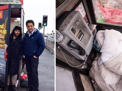 Support grows for homeless man who lives in a phone box