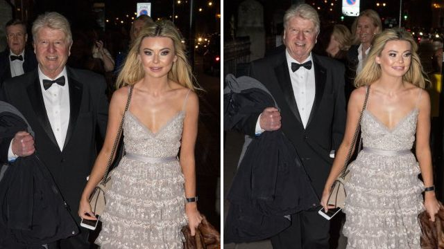 Georgia Toffolo and Stanley Johnson are unorthodox bestie goals at Tory ball