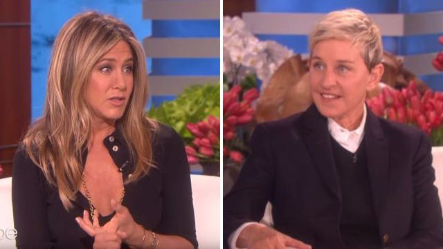 Ellen DeGeneres jokes with Jennifer Aniston about marriage weeks before she announced split from Justin Theroux