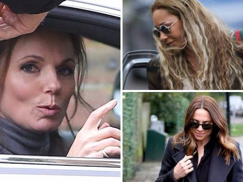 It's on, people! Mel B and Mel C arrive at Geri Horner's house for Spice Girls reunion talks