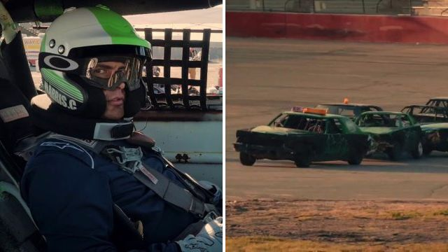 Top Gear's Matt LeBlanc laughs from sidelines as Chris Harris gets terrified by chain racing
