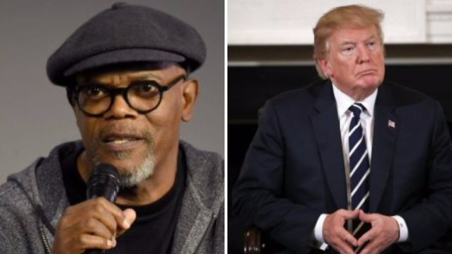 Samuel L Jackson brands Donald Trump a  Motherf      over plans to arm  school teachers 5b97e68e7df