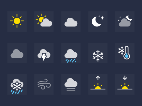 Here are what all the iPhone weather symbols mean