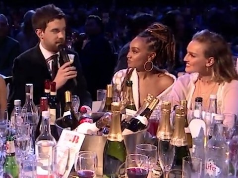 Jack Whitehall refuses to talk to Perrie Edwards' boyfriend Alex Oxlade-Chamberlain over Arsenal move at Brits