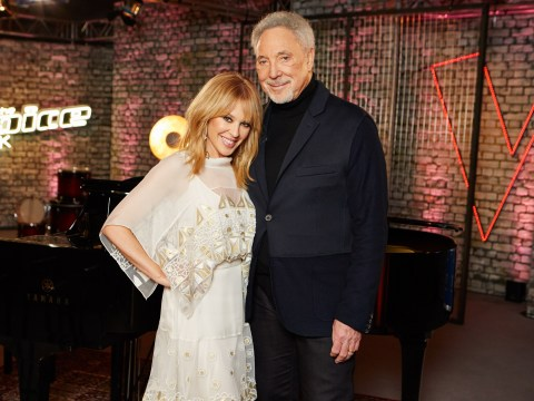 Sir Tom Jones is lucky lucky lucky as he gets a little help from Kylie Minogue on The Voice UK