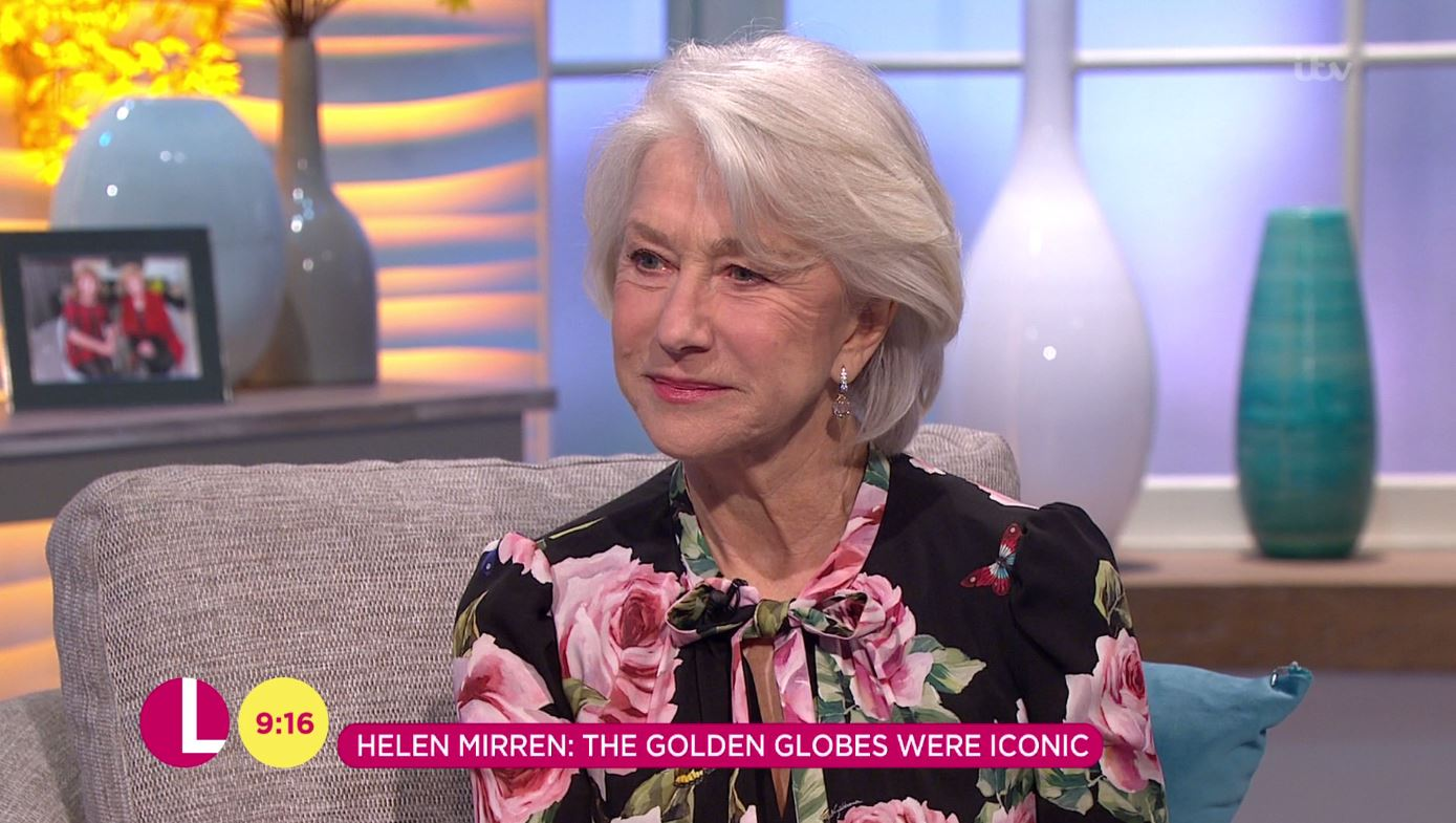 Dame Helen Mirren calls the Time's Up movement a 'volcanic explosion' as she says it's 'not come far enough'