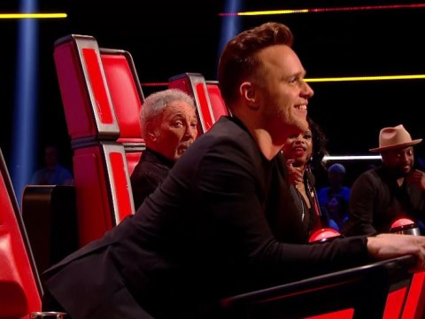 The Voice's Olly Murs twerks as contestant sets studio alight to Sean Paul