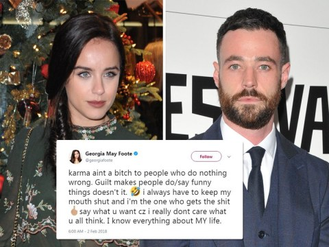 Georgia May Foote slams ex Sean Ward after 'karma' subtweet