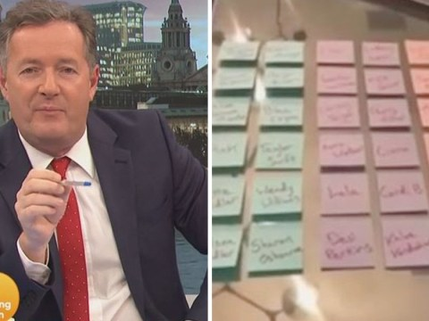 Piers Morgan responds to Kim Kardashian's Valentine's gift with his own 'hate list'