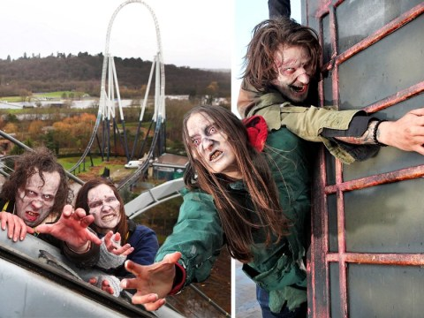 Thorpe Park is paying people to play zombies on a rollercoaster