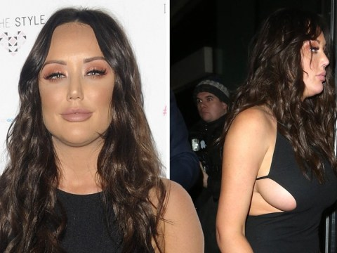 Charlotte Crosby promotes her own clothing range in the best way as she dons statement LBD