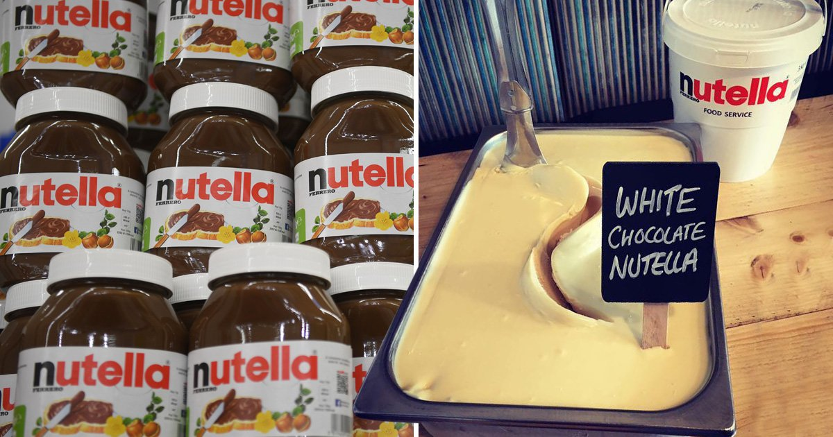 White chocolate Nutella ice cream is a thing and it looks amazing
