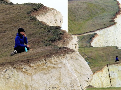 Having a picnic at the edge of a cracked cliff might not be the best idea