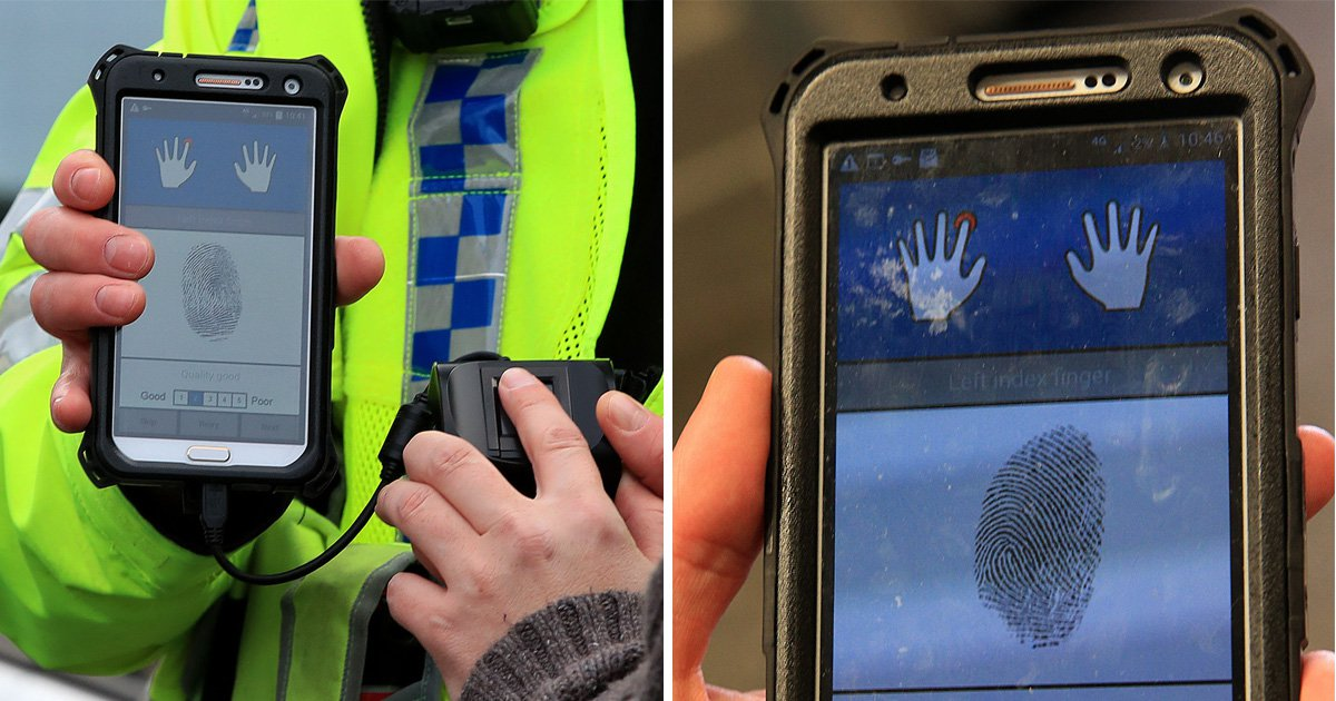Police to adopt new fingerprint scanners to identify potential suspects in under a minute