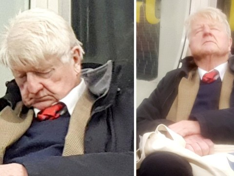 Boris Johnson's dad spotted 'posh snoring' on the Tube