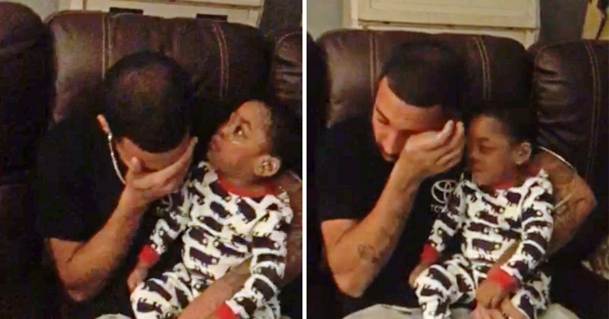 Incredible moment deaf baby smiles when his dad starts singing to him