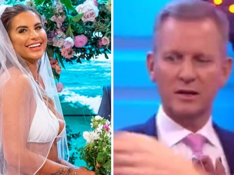 GMB viewers catch Jeremy Kyle staring at Jess Shears' bridal bikini top: 'It was disturbing'