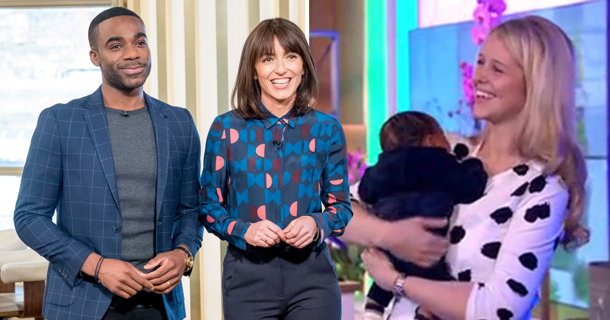 Ore Oduba brings newborn son Roman to This Morning as he co-hosts with Davina McCall: 'My baby's here!'