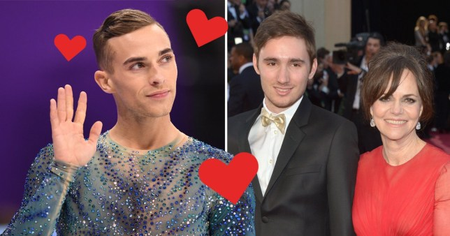 Sally Field tries to set son up with figure skater Adam Rippon
