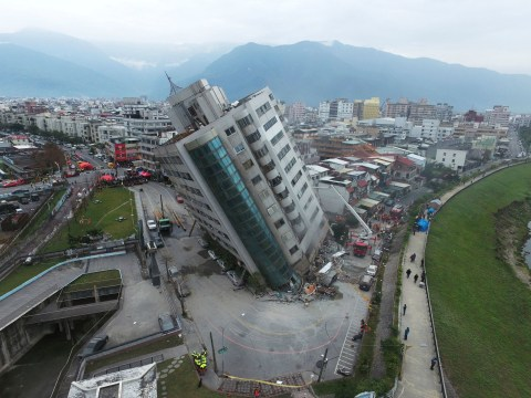 Buildings collapse after 6.4 magnitude earthquake hits Taiwan