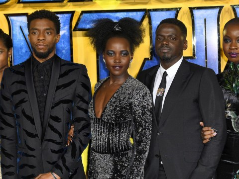 Stormzy and John Boyega joinLupita Nyong'o and Martin Freeman for Black Panther European premiere
