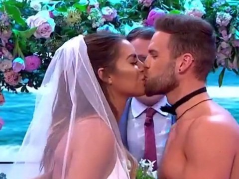 Love Island's Jess Shears and Dom Lever 'get married' in live TV wedding